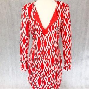 Diane Von Furstenberg Reina Long Sleeve Silk Dress